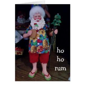 HO HO RUM CASUAL CHRISTMAS WISHES CARD