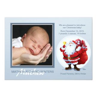 """Ho Ho Santa - tarjeta de la foto del día de fiesta Invitación 5"""" X 7"""""""