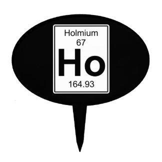 Ho - Holmium Cake Topper