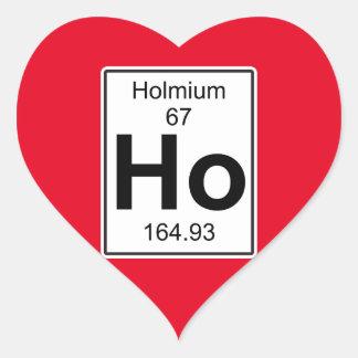 Ho - Holmium Heart Sticker