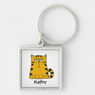 Ho Hum Kitty Keychain