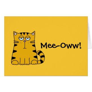 Ho Hum Kitty Stationery Note Card