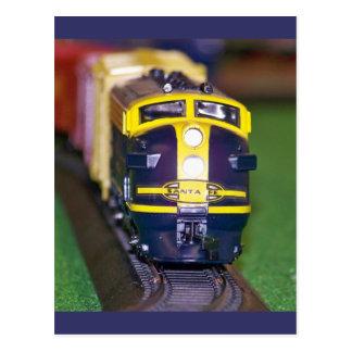 HO Model Train Postcard