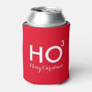 Ho navidad divertido cubicado enfriador de latas