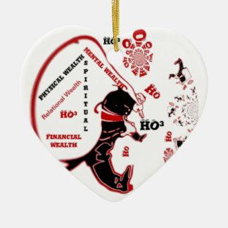 HO Navidad especial negra de la riqueza de Santa Adorno Navideño De Cerámica En Forma De Corazón