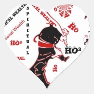 HO Navidad especial negra de la riqueza de Santa Pegatina En Forma De Corazón