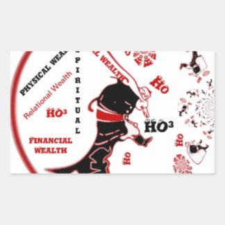 HO Navidad especial negra de la riqueza de Santa Pegatina Rectangular