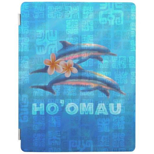 HO'OMAU Hawaiian Dolphins Primitive Collage iPad Smart Cover