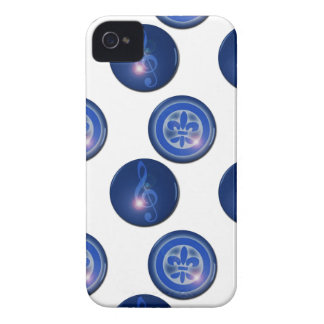 Ho´oponopono Flor de Lis y Clave de Sol iPhone 4 Case-Mate Funda