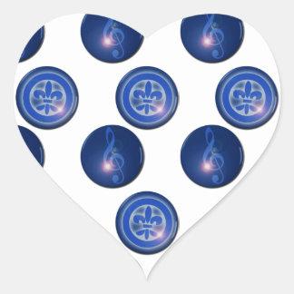 Ho´oponopono Flower of Lily and Sun Key Heart Sticker