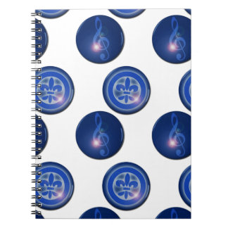 Ho´oponopono Flower of Lily and Sun Key Spiral Notebook