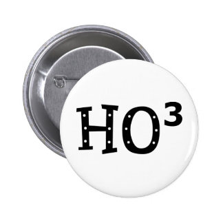 Ho to the 3rd Power 2 Inch Round Button