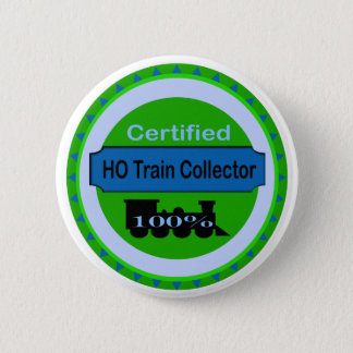 HO Train Collector Pinback/Button Pinback Button