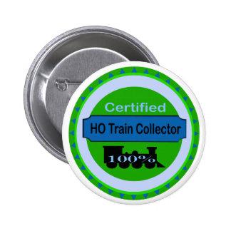 HO Train Collector Pinback/Button Pinback Button