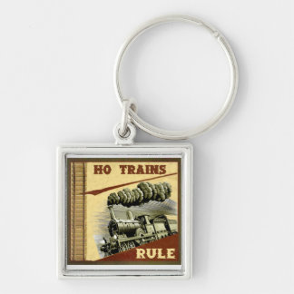 Ho Trains Rule Keychain