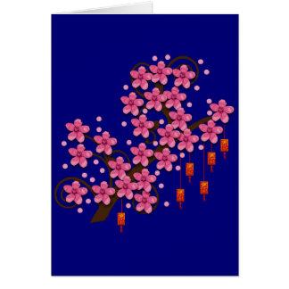 Hoa Dao Greeting Card