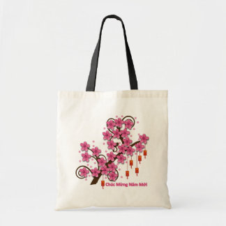 Hoa Dao Happy New Year Tote Bag