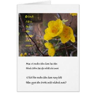 hoa mai vang greeting card