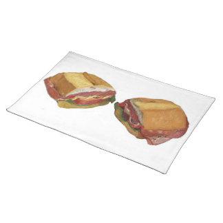 Hoagie Sub Sandwich Placemat