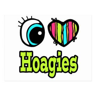 Hoagies brillantes del amor del corazón I del ojo Postal