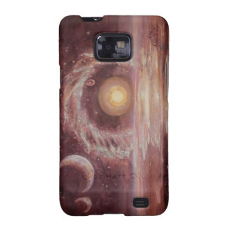 Hoag's Object and Two Moons Samsung Galaxy Case