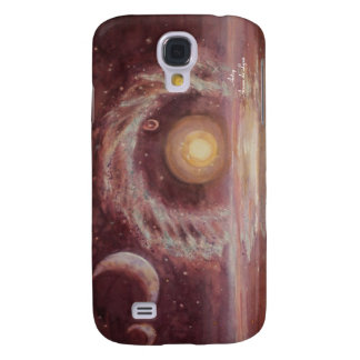 Hoag's Object and Two Moons Galaxy S4 Cover