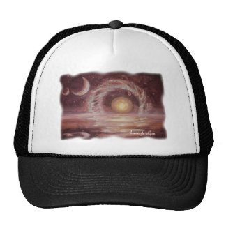 Hoag's Object and Two Moons Trucker Hat