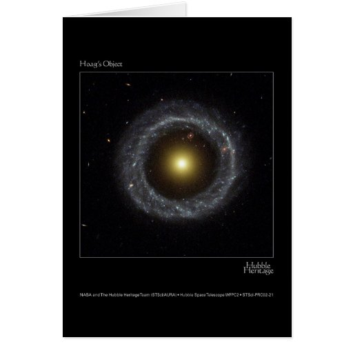 Hoag's Object Hubble Telescope Photo Card