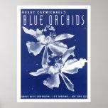 """Hoagy Carmichael's """"Blue Orchids"""" Poster"""