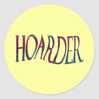 Hoarder colorful classic round sticker