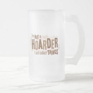Hoarder Frosted Glass Beer Mug