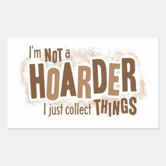 Hoarder Rectangular Sticker