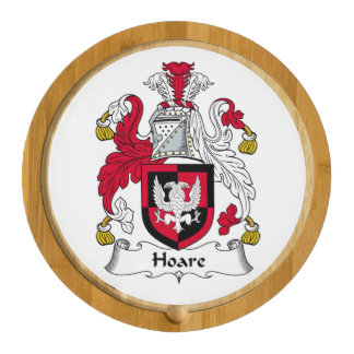Hoare Family Crest Round Cheese Board