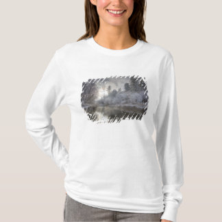Hoarfrost along a slough at the Kelly Island T-Shirt