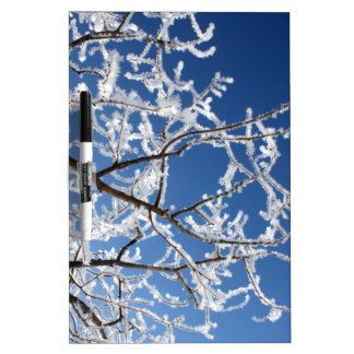 Hoarfrost branches dry erase board