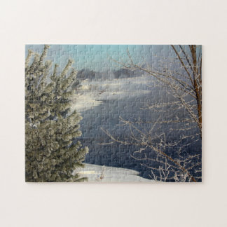Hoarfrosted Trees – Penobscot River Jigsaw Puzzle
