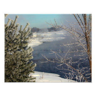 Hoarfrosted Trees – Penobscot River Photograph