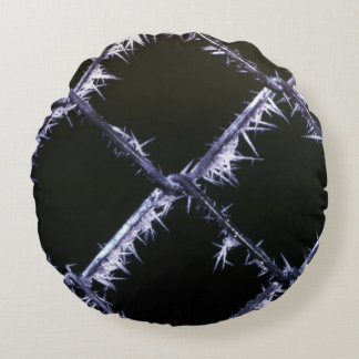 Hoary frost round pillow