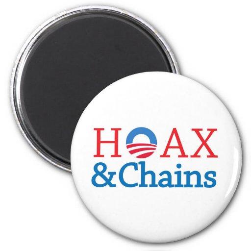 Hoax&Chains 2 Inch Round Magnet