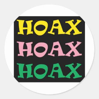 ** HOAX ** CLASSIC ROUND STICKER