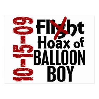 Hoax Of Balloon Boy Postcard