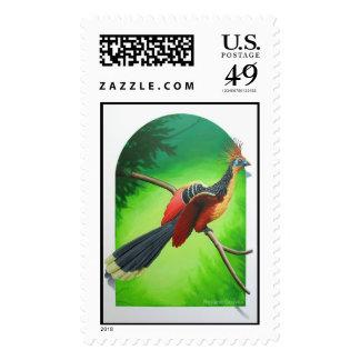 "Hoazin-Opisthocomus Hoazin-""Cigana"" - card Stamp"