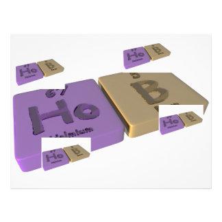 Hob as Ho Holmium and B Boron Letterhead