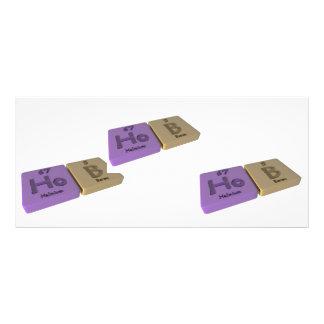 Hob as Ho Holmium and B Boron Personalized Rack Card