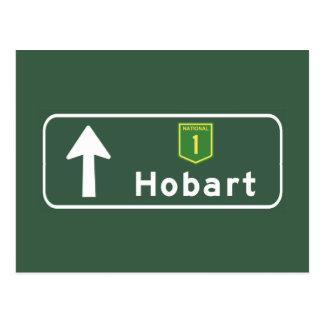 Hobart, Australia Road Sign Postcard