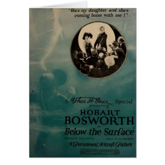 Hobart Bosworth 1920 silent movie exhibitor ad Card