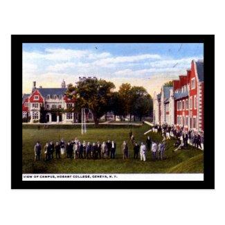Hobart College, Geneva NY 1920s Vintage Postcard