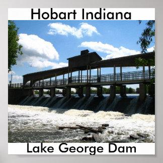 Hobart Indiana, Lake George Dam Poster