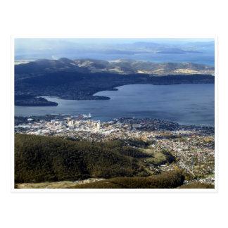 hobart tasmania view postcard