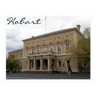 hobart town hall postcard